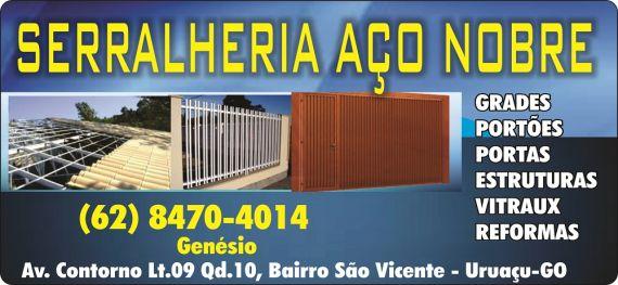 cb2282bb2de SERRALHERIA AÇO NOBRE em Uruaçu GO - Disk Empresarial - Telefones Comerciais